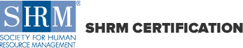 The SHRM (Society for Human Resource Management) Logo. Effective Remote Coaching and Feedback qualifies for Continuing Education credits.