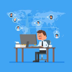 remote leader connecting with remote team members