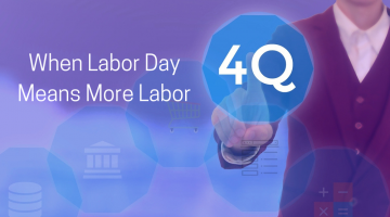 Labor Day means the beginning of the fourth quarter.